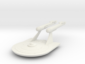 Derf Class, 1:3788 Scale in White Natural Versatile Plastic