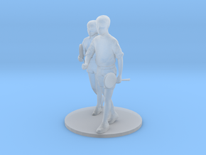 1l43 Badminton Couple on Base in Smooth Fine Detail Plastic