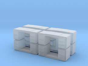 Office Desk (x8) 1/200 in Smooth Fine Detail Plastic