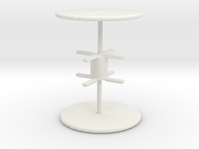 Office Table (x2) 1/100 in White Natural Versatile Plastic