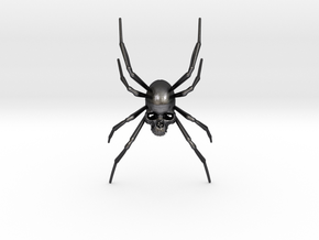 Spider-Skull in Polished and Bronzed Black Steel