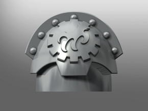 Honoris pattern shoulder pads: Crimson Talons in Smooth Fine Detail Plastic: Small