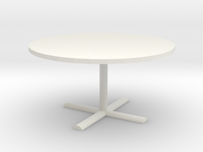Office Table 1/48 in White Natural Versatile Plastic
