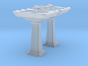 Toilet Sink Ver03. 1:48 Scale in Smooth Fine Detail Plastic