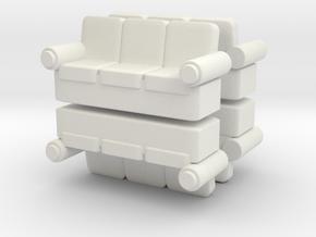 Sofa (x4) 1/120 in White Natural Versatile Plastic