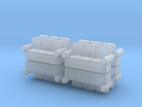 Sofa (x8) 1/285 in Smooth Fine Detail Plastic