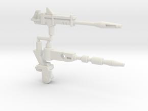 Hound Weapon Set (Siege, 5mm) in White Natural Versatile Plastic: Large