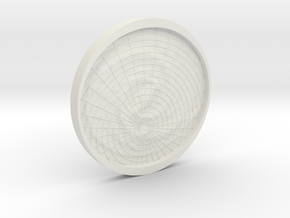 3D Milky Way Tactile Map in White Natural Versatile Plastic