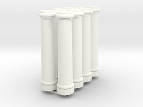 HO Scale 12 ft tall pillars in White Processed Versatile Plastic