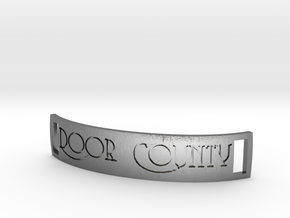 Door County bracelet tag in Polished Silver
