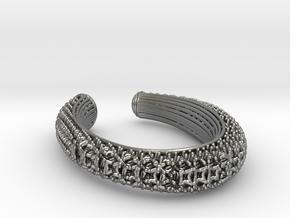 3D snowflake lattice bracelet in Natural Silver