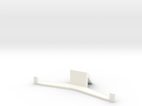 HTC ONE M8 stand (landscape) in White Strong & Flexible Polished