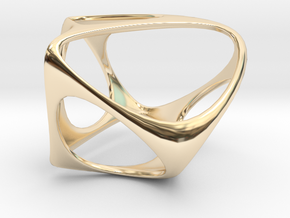 SquareSpace Ring in 14k Gold Plated Brass