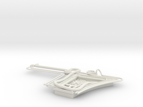 1/6 Scale - MF5 - Starboard Wall Detail in White Natural Versatile Plastic