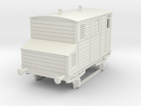 o-64-mgwr-horsebox in White Natural Versatile Plastic