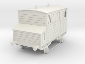 o-43-mgwr-horsebox in White Natural Versatile Plastic