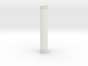 Helix Base 1 in White Natural Versatile Plastic: Small