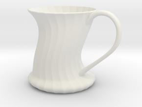 Mug in White Natural Versatile Plastic