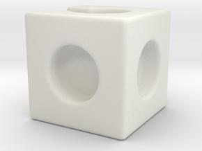 Wire Organizer Modular Cube 1.0 in White Natural Versatile Plastic