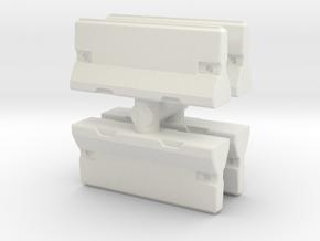 Traffic Barrier set (x4) 1/87 in White Natural Versatile Plastic