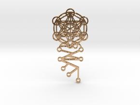 Archangel Metatron Activation Key in Polished Bronze