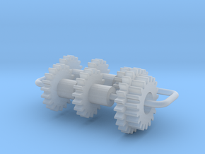 Bachmann N US 4-8-4 Axles & Gear (3rd Generation) in Smooth Fine Detail Plastic