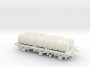 Lbscr 6W Gas Tank Wagon Ver. 1 in White Natural Versatile Plastic: 1:76 - OO