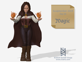 Sorceress 32mm Miniature in Smooth Fine Detail Plastic