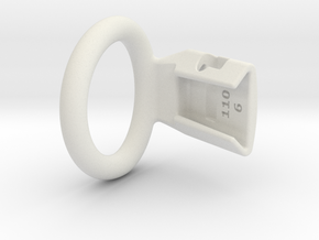 Q4e single ring 35.0mm in White Premium Versatile Plastic: Small