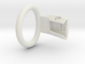 Q4e single ring L 41.4mm in White Premium Versatile Plastic