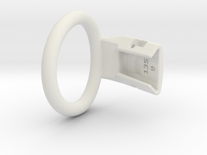 Q4e single ring M 43.0mm in White Premium Versatile Plastic