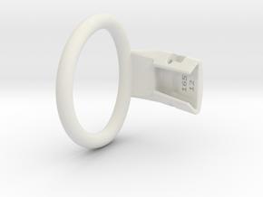 Q4e single ring L 52.5mm in White Premium Versatile Plastic