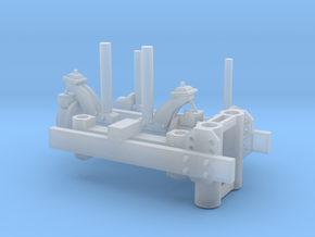 Hyrail 1-64 Scale in Smooth Fine Detail Plastic