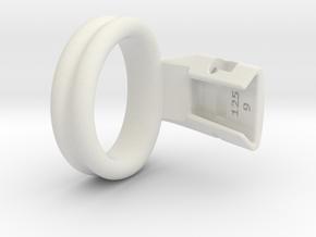 Q4e double ring M 39.8mm in White Premium Versatile Plastic