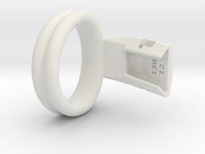 Q4e double ring L 41.4mm in White Premium Versatile Plastic