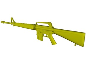 1/16 scale Colt M-16A1 rifle w 20rnds mag x 1 in Smooth Fine Detail Plastic
