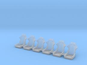 Set of 6 - Recaro Bucket Seats  in Smooth Fine Detail Plastic