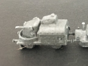 1/350th scale Armoured traincar, gun car in Smooth Fine Detail Plastic
