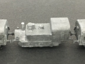 1/350th scale Armored Steam Locomotive in Smooth Fine Detail Plastic