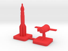 Zond Proton Soyuz Scaled Order, 15mm in Red Processed Versatile Plastic