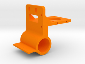 K40 Laser Gantry Bracket - 21mm OD Linear Bearing in Orange Processed Versatile Plastic