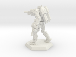 Mk3a Light/Scout Mech in White Natural Versatile Plastic: Small