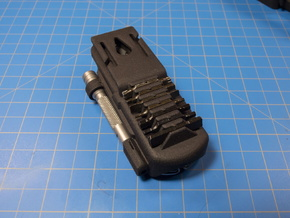 Holster, with Bit Grips, for FREE P2 in Black Natural Versatile Plastic: 1:100