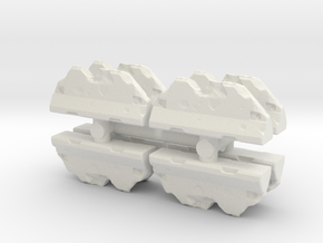 Wrecked Traffic Barrier (x8) 1/160 in White Natural Versatile Plastic