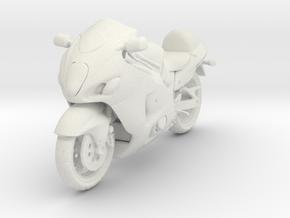 1/18 Suzuki Sports Motorcycle in White Natural Versatile Plastic