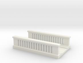 Concrete Bridge 1/87 in White Natural Versatile Plastic