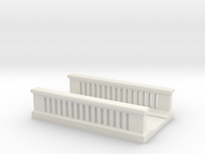 Concrete Bridge 1/56 in White Natural Versatile Plastic