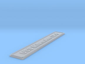Nameplate USS Milwaukee CL-5 in Smoothest Fine Detail Plastic