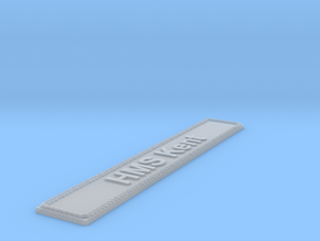 Nameplate HMS Kent in Smoothest Fine Detail Plastic