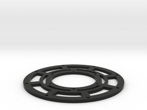 2.2 Beadlock Center 3pc Outer in Black Natural Versatile Plastic